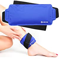 Reusable Ice Gel Cold Pack for Ankle, Foot, Wrist, Elbow, Head - Great for Plantar Fasciitis, Achilles Tendonitis…