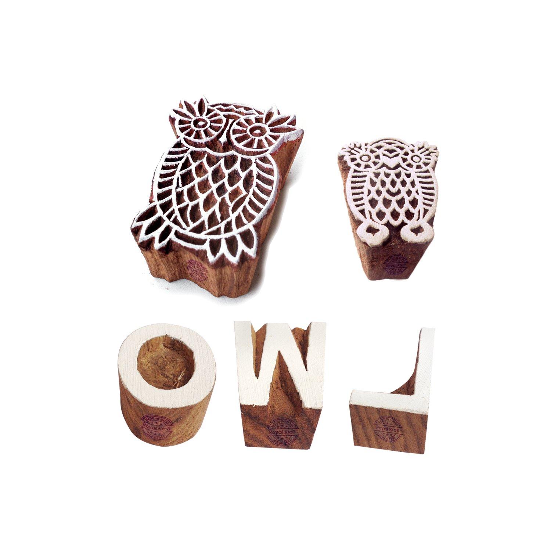 Holz Stempel Alphabet Dekorative Bl/öcke Dekorative Bl/öcke Handcarved Stamp