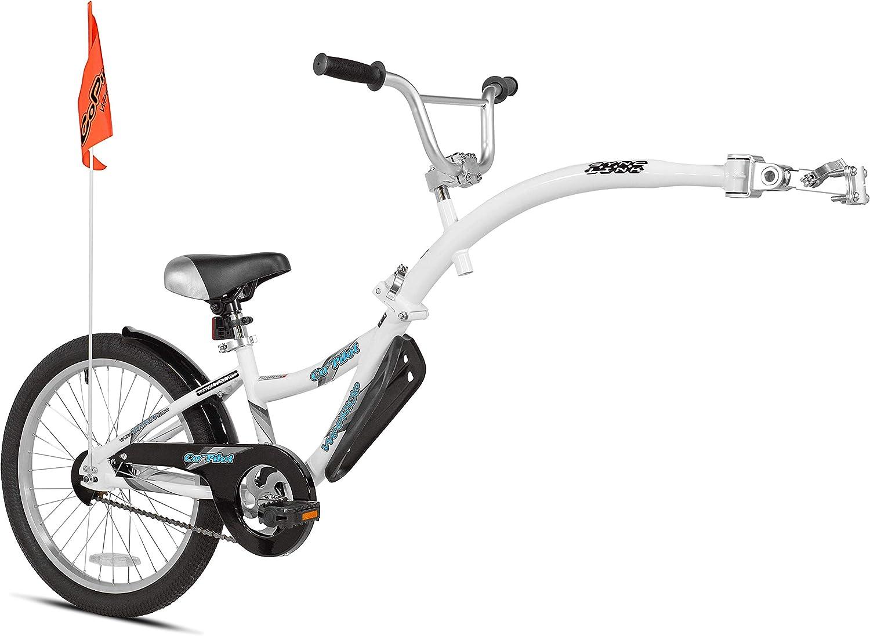 Weeride Co-Pilot Bicicleta Semi-tándem, Niños, Blanco, Mediano ...