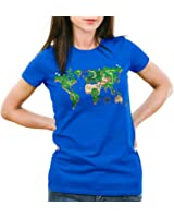 style3 Mario World Map Women's T-Shirt super video game console snes n64