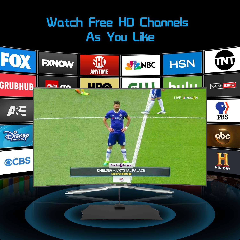 Antena TV Interior, NinkBox Antena TV HDTV Digital con Amplificador de Señal Inteligente, Alcance de 120 Millas, Soporte Canales de 1080P 4K Gratis y Todos los Tipos de TV.: Amazon.es: Electrónica