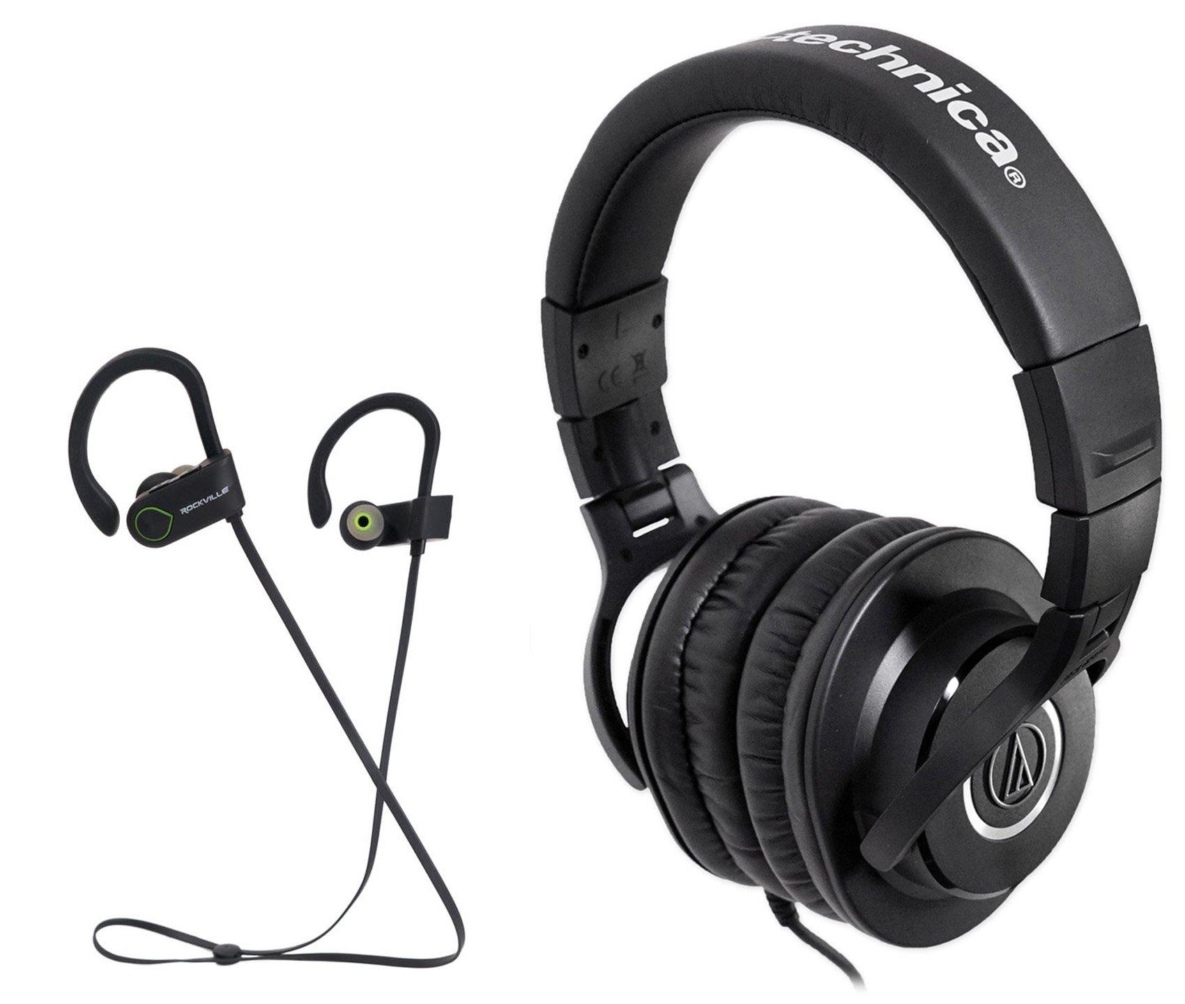 Audio Technica ATH-M40x Dynamic Studio Monitor headphones ATHM40x+ Earbuds