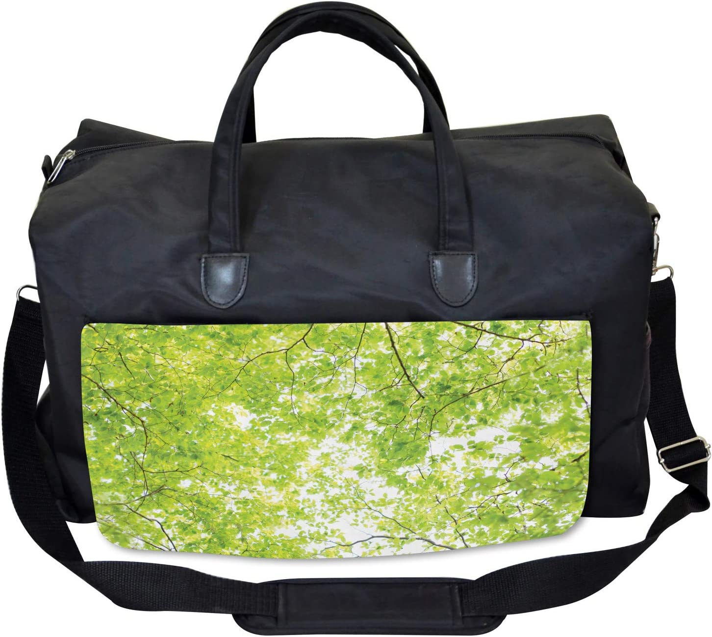 Nature Summertime Green Ambesonne Tree Gym Bag Large Weekender Carry-on