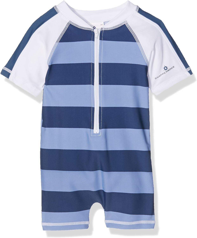 Snapper Rock Kinder Baby Jungen /& Kleinkinder UV Schutz UPF 50 Plus Badeanzug kurzer Arm f/ür Strand /& Pool Sommer Kinder Badekleidung