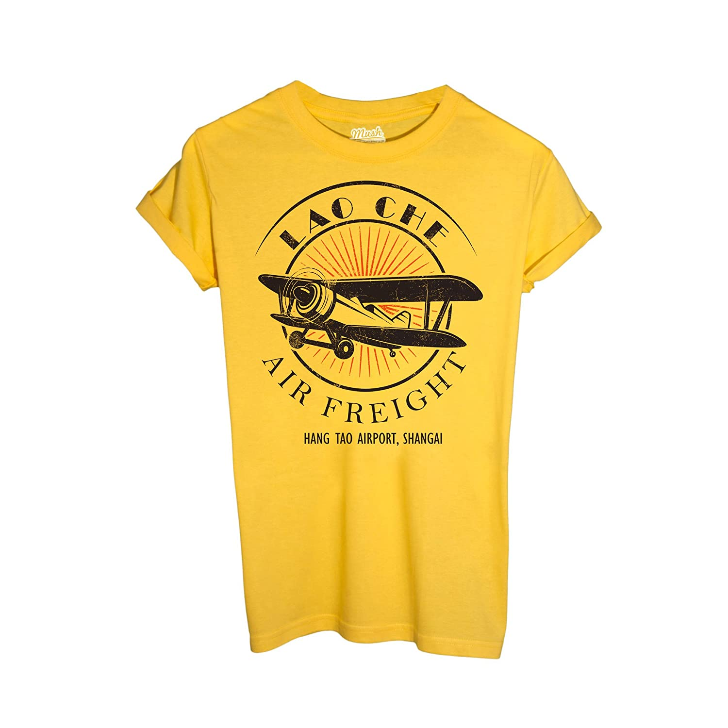 MUSH T-Shirt Lao Che Air Freight- Indiana Jones - Film by Dress Your Style mushT-IT-2638-parent