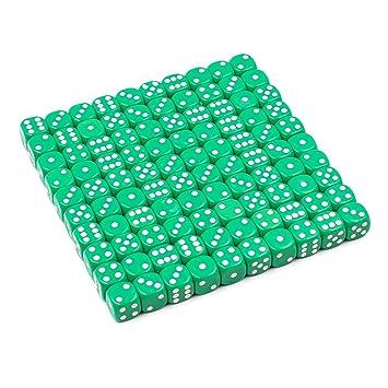 Amazon.com: Juego de dados de 6 caras 16 mm. 100 piezas con ...