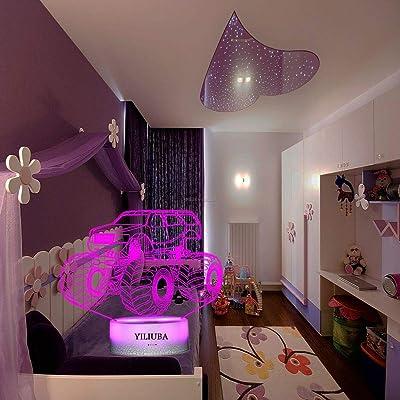 Buy Monster Trucks For Boy Bedtime 3d Night Lights For Kids Night Lamp 7 Led Colors Lighting Desk Bedroom Decor Cool Gifts Ideas Birthday Xmas Monster Buggy Online In Italy B07qybhfrl