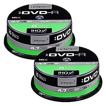 BENQ marcas DVD-R 4.7 GB 16 x Printable, 50 de eje: Amazon ...