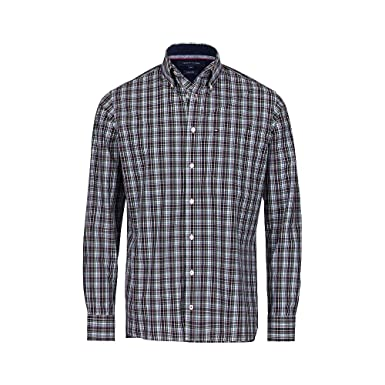 0203486944 TOMMY HILFIGER - Slim Shirts - Men - Multicoloured Check Shirt - XXL:  Amazon.co.uk: Clothing