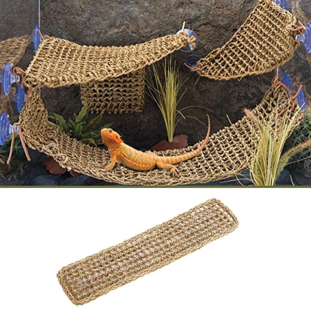 Lizard Lounger Corner Hamac pour reptiles Anoles Ours Dragon Geckos Leguane 75 x 18 cm 无