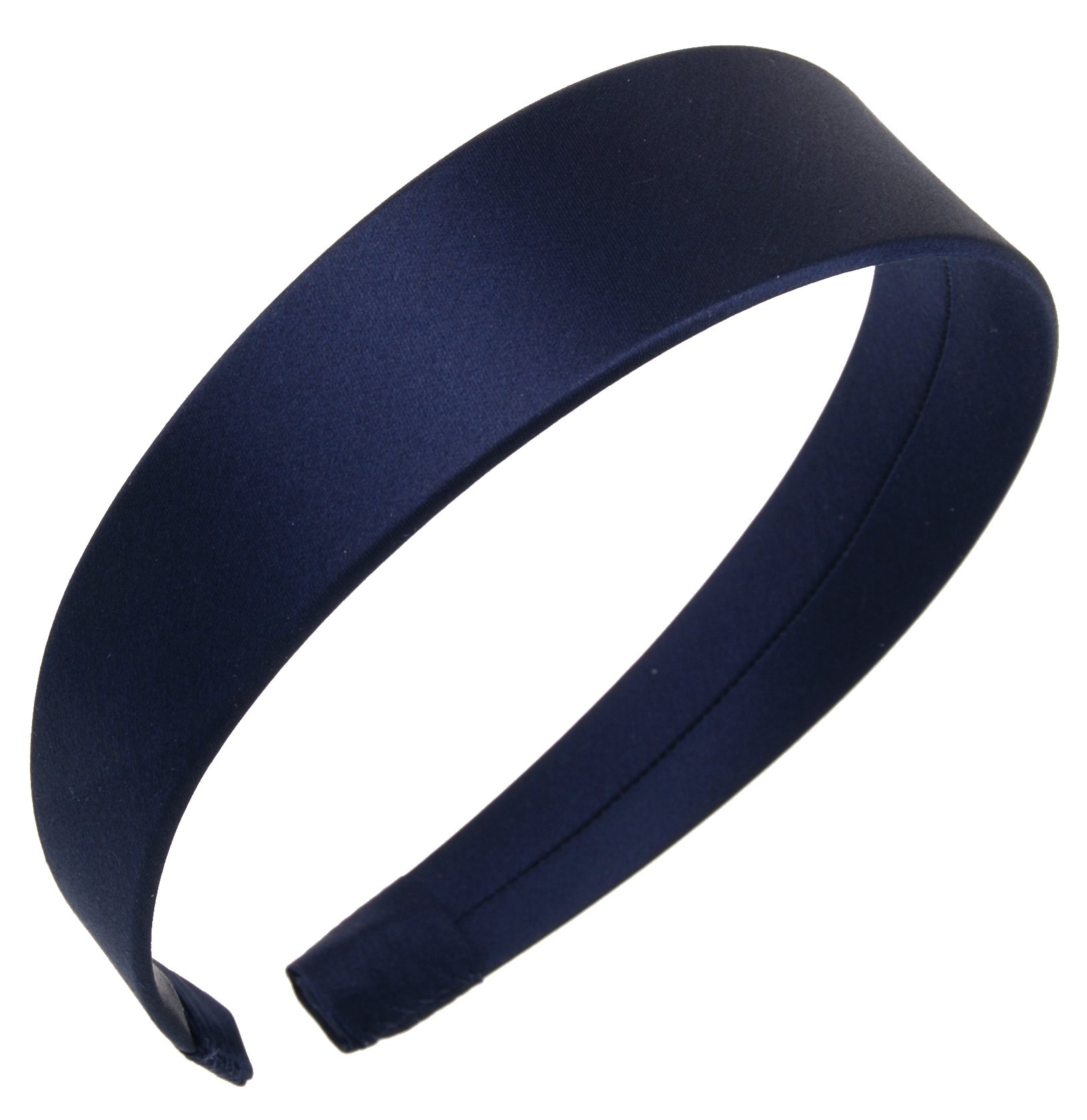 L. Erickson USA 1 1/2'' Headband - Silk Charmeuse Navy