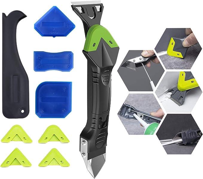 9pcs Silicone Sealant Tool Caulk Remover Grouting Mastic Finishing Smoothing kit