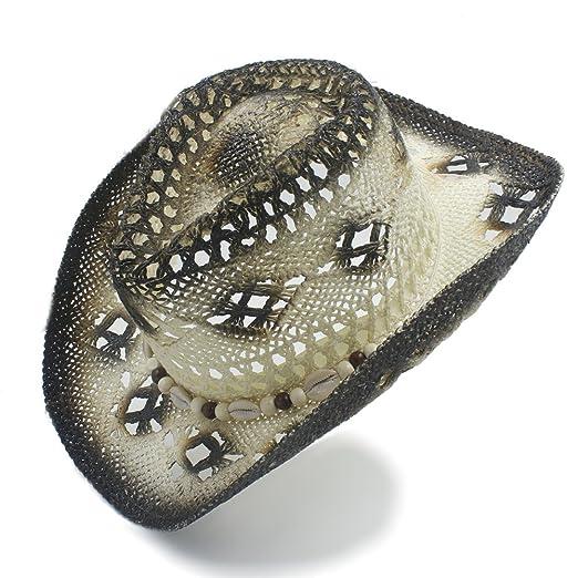 ZHLL- Gorras Straw Western Cowboy Hat Caballero Summer Cowgirl ...