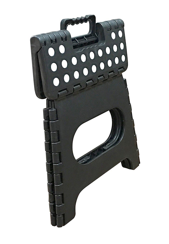 Jeronic 11-Inch Plastic Folding Step Stool, Black by Jeronic (Image #3)