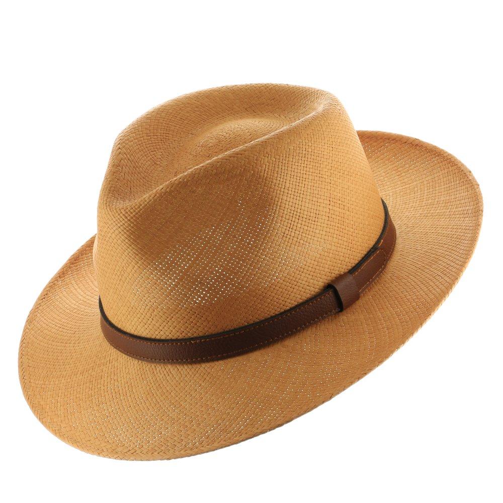 Ultrafino Mens Malta Sienna Straw Panama Hat 109009