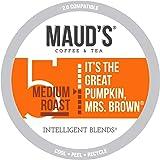 Maud's Pumpkin Spice Coffee (Great Pumpkin Mrs. Brown), 50ct. Solar Energy Produced Recyclable Single Serve Pumpkin Spice Fla