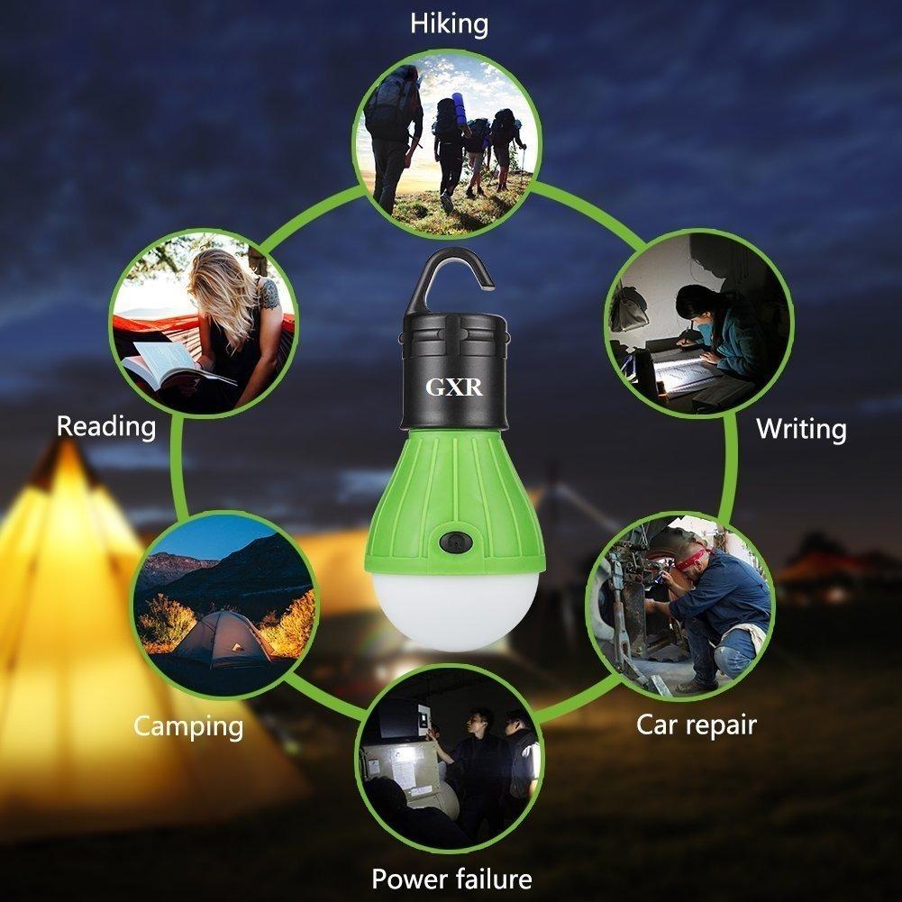 Bergsteigen und andere Outdoor-Aktivit/äten Wandern Jagen Angeln Ariel-gxr LED Tragbare Camping Laterne Zeltlampe Notlicht Leuchtmittel f/ür Camping 2 x LED Campinglampe mit Haken