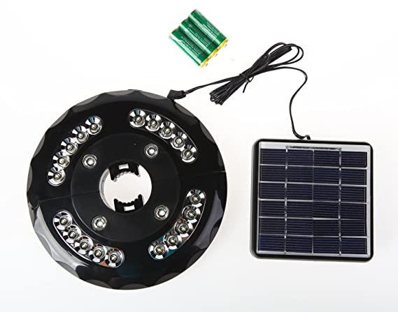 Patio 24 LED Solar paraguas luz (Panel Solar y 3 AA batería pilas incluido)