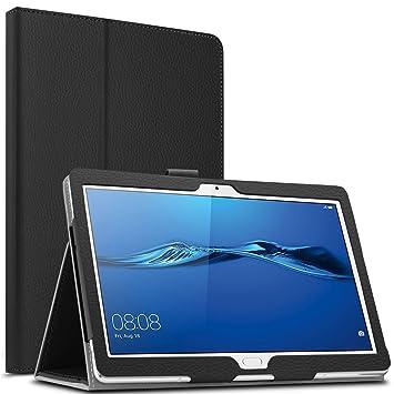 half off ec62d 0d545 Infiland Huawei MediaPad M3 Lite 10 Case, Slim Folio Cover compatible with  Auto Wake/Sleep Function,Black
