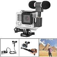 Fantaseal® Micro Kit Mic Kit pour GoPro Micro GoPro Mic Gopro Microphone GoPro Stéréo Micro Action Caméra Micro + GoPro Micro Adaptateur GoPro Stéréo