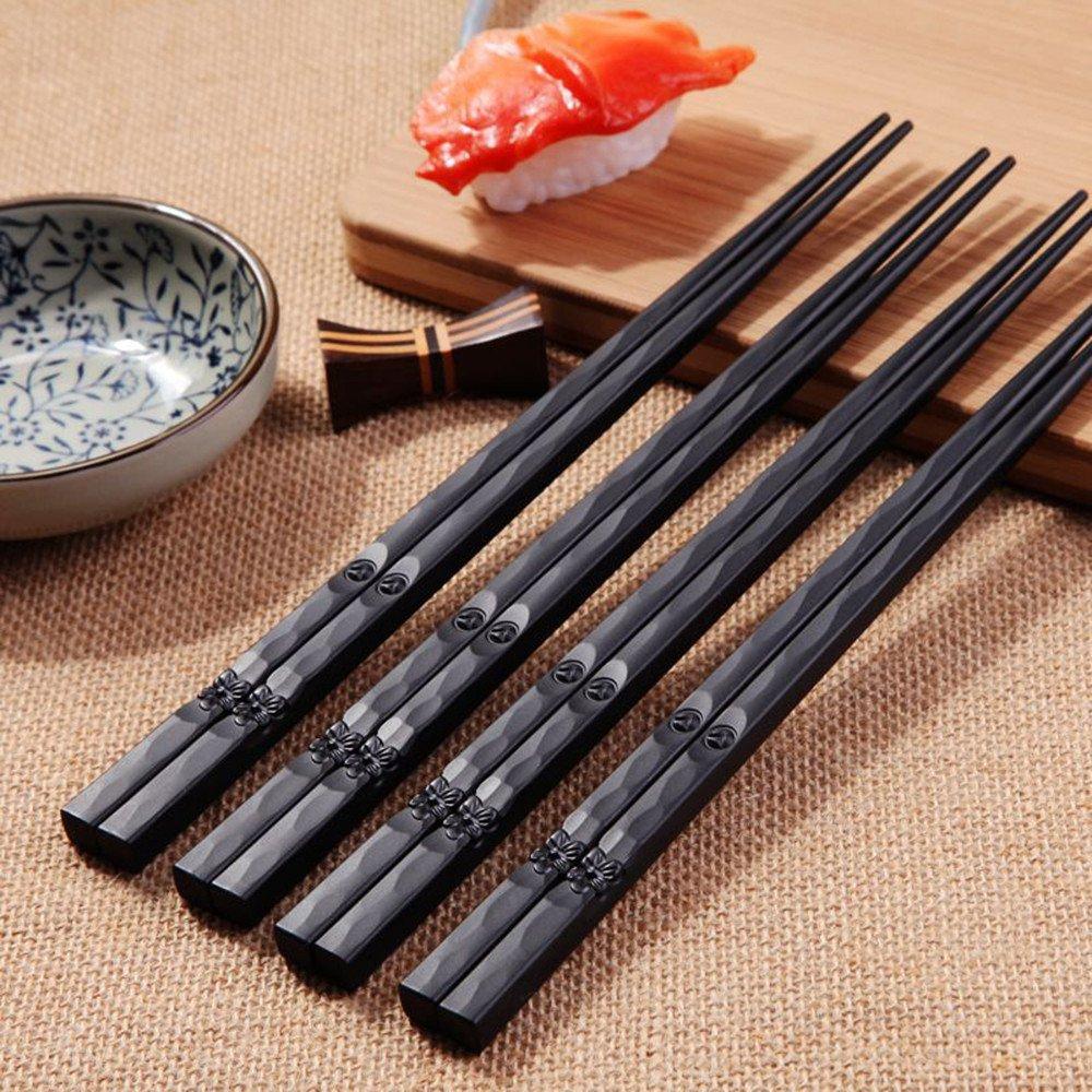 YJYDADA - Palillos japoneses de aleación antideslizantes para sushi Chop, 1 par, set de regalo chino: Amazon.es: Hogar