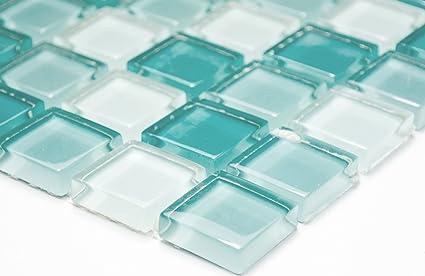 Arredo Bagno Mosaico Verde Acqua : Rete mosaico mosaico piastrelle parete crystal mix verde chiaro