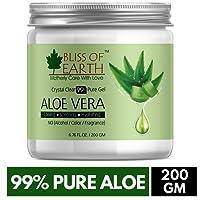 Bliss of Earth Aloe Vera Gel Face, Body & Hair (crystal clear, 200ml), Paraben Free
