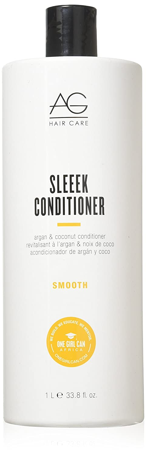 AG Hair Smooth Sleeek Argan & Coconut Conditioner, 6 Fl Oz