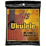 GHS Strings 10 Set, Hawaiian D-Tuning Ukulele Strings, Clear Nylon
