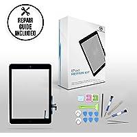 techorbits 24,6cm Touch digitalizador de repuesto para iPad Air 1st genreation de vidrio con botón de inicio A1474A1475A1476(at & T/T-Mobile/Sprint/Verizon), GSM CDMA Kit de reparación, Negro