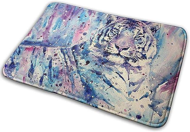 qinzuisp Alfombra del Piso Cool Tiger Art Painting Esteras De Puerta Interior Al Aire Libre Moda Felpudo 40X60Cm Entrada Alfombra De Piso Antideslizante para Cocina: Amazon.es: Hogar