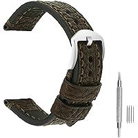 Cinturino Orologio Da Polso Uomo Panerai Ricambio In Vera Pelle Con Fibbia In Acciaio Inossidabile Adatto Per Accessori