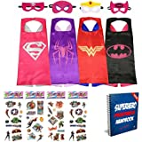 Vanguard Superhero Girl Cape and Mask set of 4 different styles