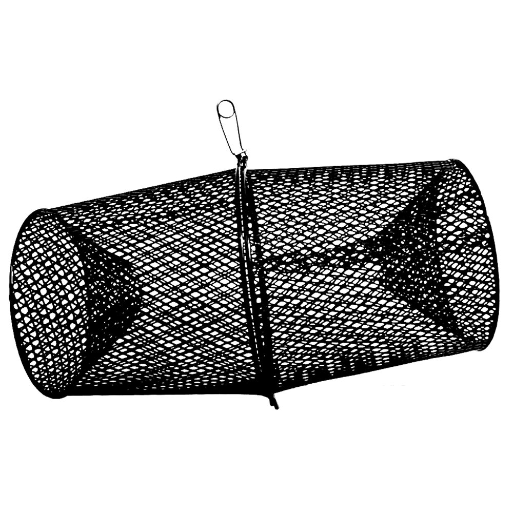 Frabill Torpedo Minnow Trap | Heavy-Duty Steel Mesh | Two-Piece Minnow Trap