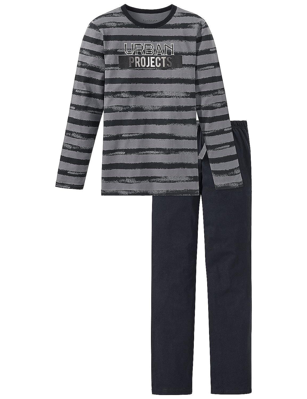 Schiesser 158893, Pijama para Niñas, (Gris 200), 10 años: Amazon.es: Ropa y accesorios