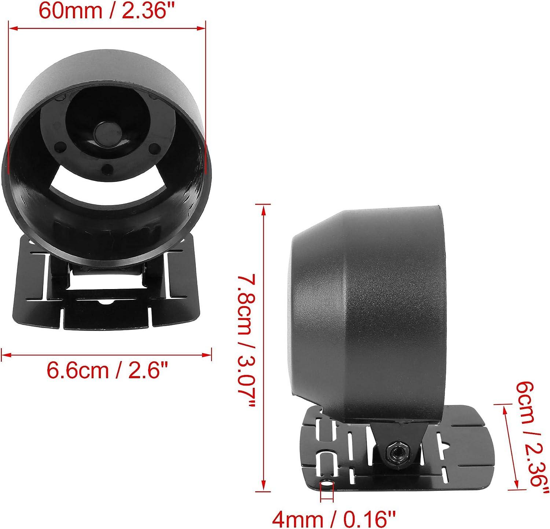 X AUTOHAUX Car 2.4 60mm Single Hole ABS Plastic Gauge Pod Meter Dash Dashboard Holder with Mount Base Matte Black
