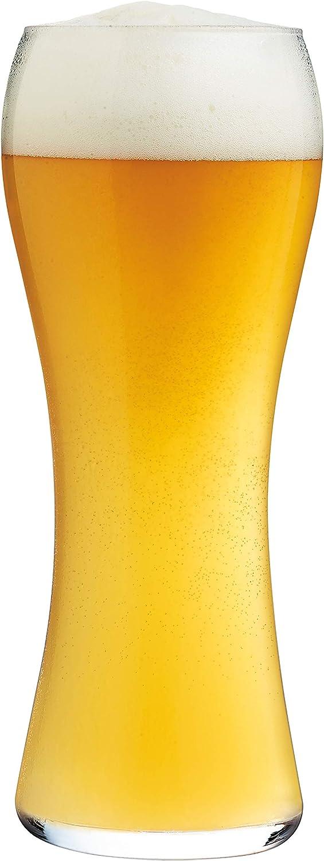 Arcoroc ARC L9944 Beer Legend - Juego de 6 vasos de cerveza de trigo (590 ml, cristal), transparente