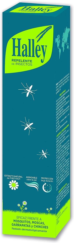 HALLEY Repelente Mosquitos Spray Eficaz Repelente Todo Tipo de Insectos Protección de Larga Duración con Extracto Natural de Pyrethrum   250ml