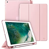 Fintie Case with Built-in Pencil Holder for iPad 6th / 5th Generation - Lightweight SlimShell Cover with Translucent…
