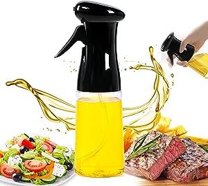 Oil Sprayer for Cooking 210ml Oil Spray Bottle Food Grade Portable Reusable Oil Vinegar Spritzer Sprayer Bottles for Cooking BBQ Salad Baking Roasting Grilling
