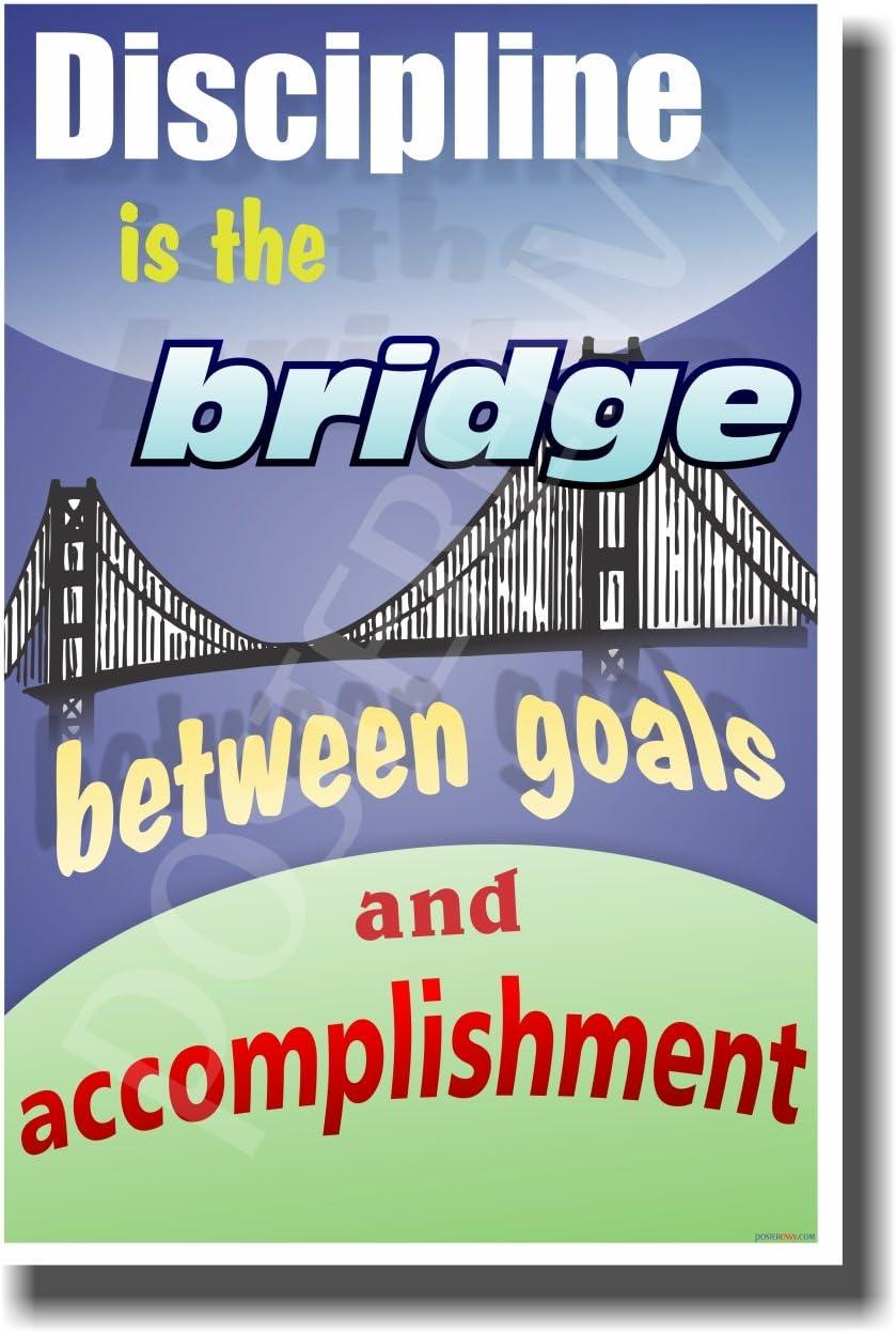 NEW Classroom Motivational Poster Discipline is the Bridge 2