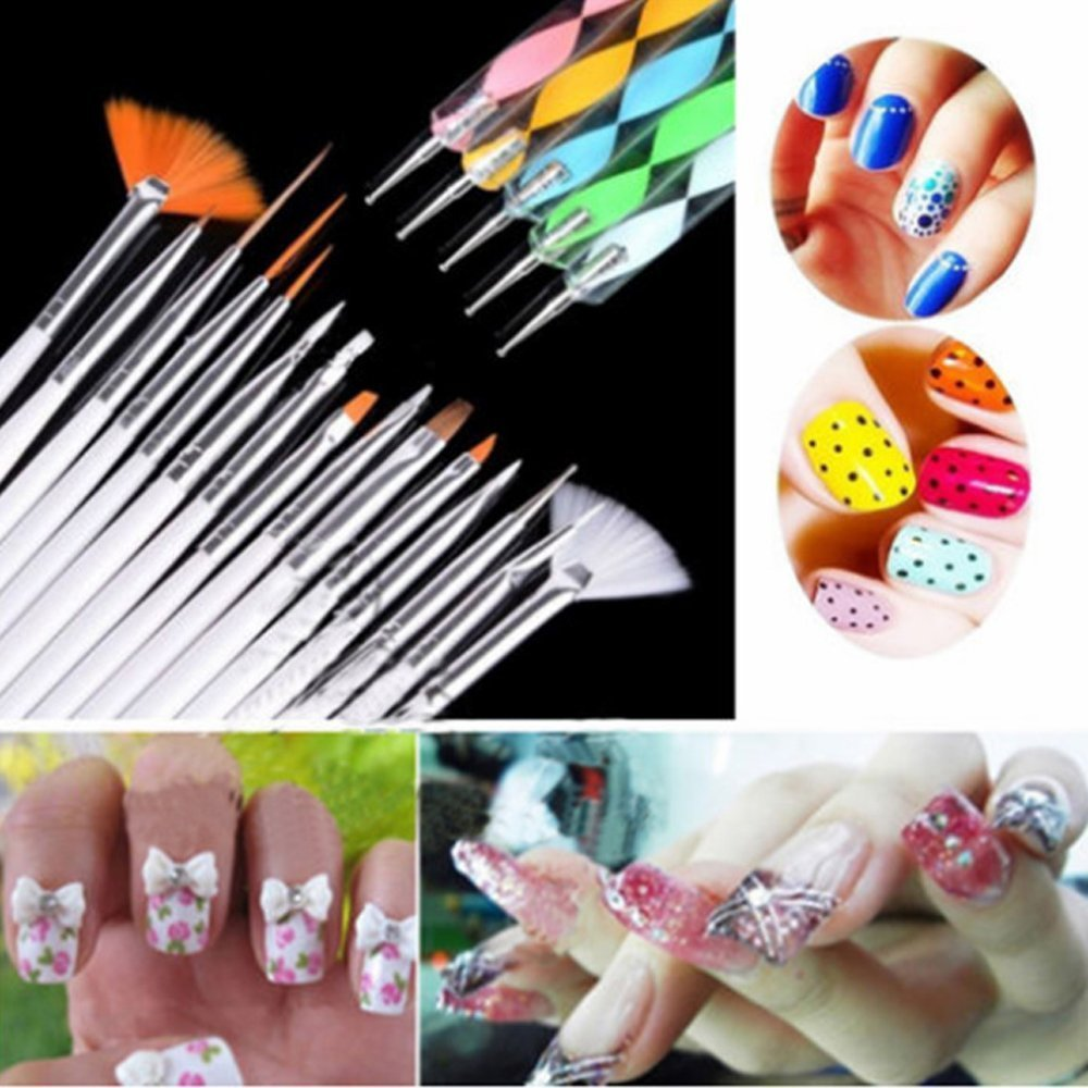 Colomba 20 Pieces Nail Art Dotting Tool Set, Painting, Drawing Accessories Set