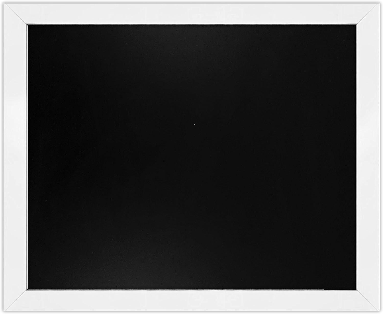 """Loddie Doddie Magnetic Chalkboard - 18"""" x 22"""" Magnetic Chalk Board for Wall Decor - Easy-to-Erase Large Chalkboard White Frame for Kitchen - Big Framed Magnet Blackboard - Hanging Black Chalkboards"""