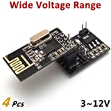 4Pcs NRF24L01+ Wireless Module with Voltage Regulating Breakout Adapter
