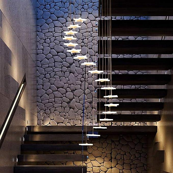 YASHANG Araña De La Escalera Estrella Creatividad De La Personalidad Pasillo Duplex Simplicidad Moderna Escalera De Caracol Araña Larga: Amazon.es: Iluminación