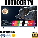 "Outdoor TV 43"" Weatherproof Television Compatible with LG Ultra HD 4K Smart LED"