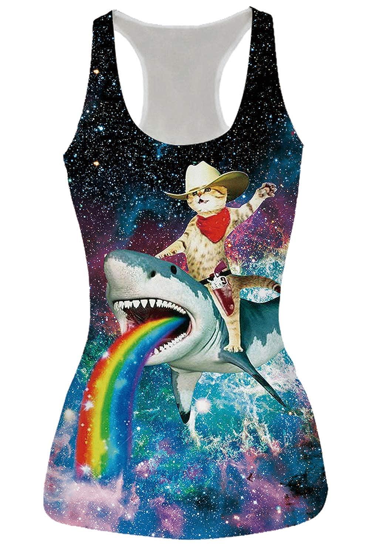 RAISEVERN Women's Racerback Yoga Shirt Summer Sleeveless Casual Tank Tops