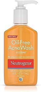 Neutrogena Oil-Free Salicylic Acid Acne Treatment Acne Wash-6 oz