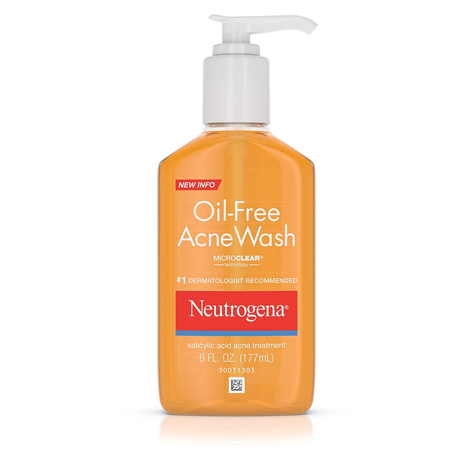 Neutrogena Oil-Free Acne Wash, 6 Oz