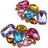 Pair of Crystal Stone Shoe Clip Boots Buckle Removable Wedding Bridal Party Decor Multicolor